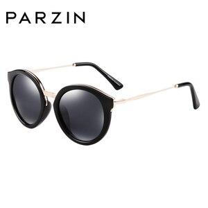 Image 5 - PARZIN lunettes de soleil rondes pour femmes, marque de luxe rétro, verres de soleil polarisés de haute qualité pour la conduite