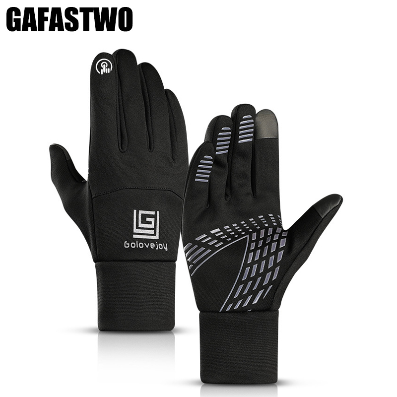 New Winter Touch Screen Windproof Men Ski Gloves Women Waterproof Plus Velvet Warm Elastic Full Finger Riding Gloves