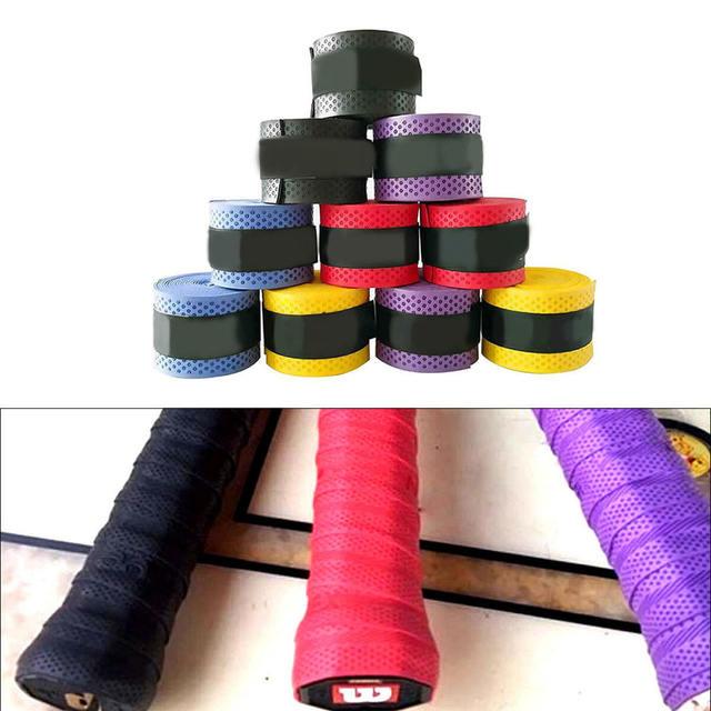10pcs Badminton Sweat Belt Tennis Racket Band Towel Hand Glue Take-up Strap Handshake Handle Multi-color Non-slip Strap 3