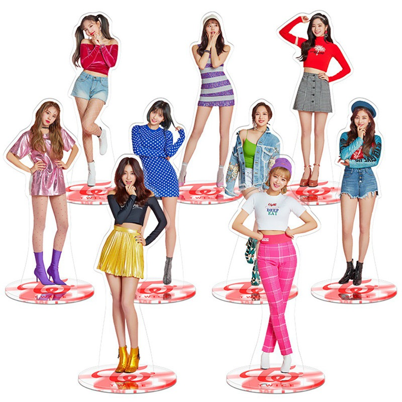 Kpop Twice Standee Action Figure Doll Nayeon Jungyeon Standing Table Decor Acrylic 21cm