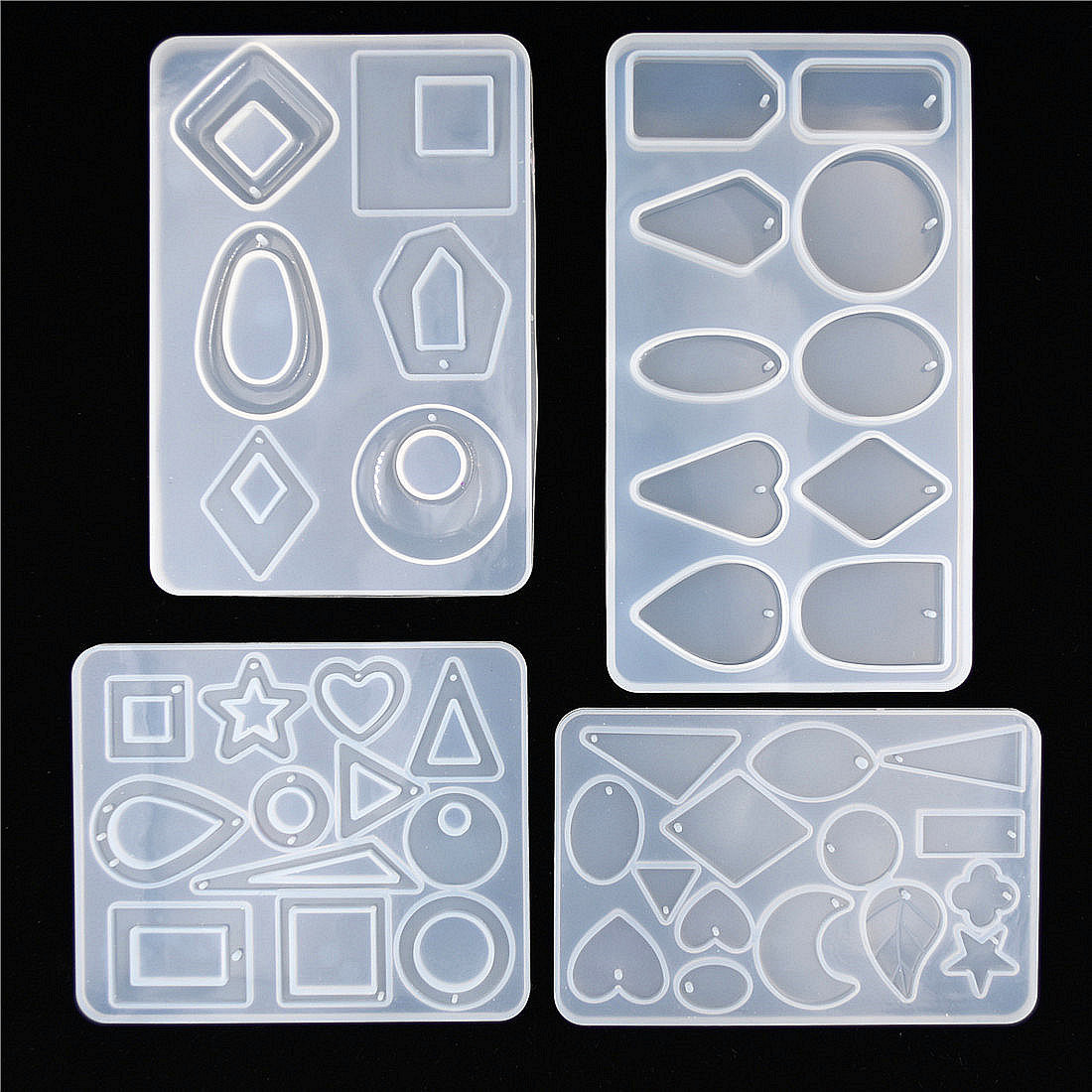 1X SNASAN Silicone Mold For Jewelry Findings Pendant Resin Silicone Mould Crafts Jewelry Making Charms Epoxy Resin Molds DZ40