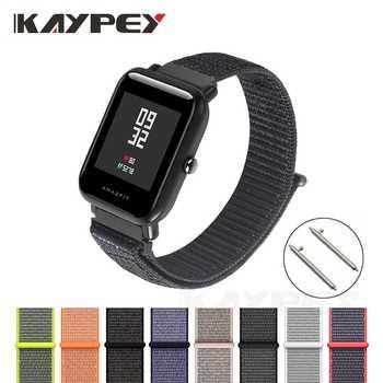 Nylon Schleife Strap für Original Xiaomi Huami Amazfit Bip BIT Lite Jugend Smart Uhr Tragbare Handgelenk Armband Amazfit Armband 20mm