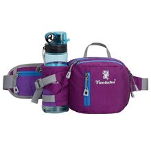Phone-Pouch Organizer Waist-Bum-Pack Sports-Bag Running-Belt Cycling Jogging with Water-Bottle-Holder