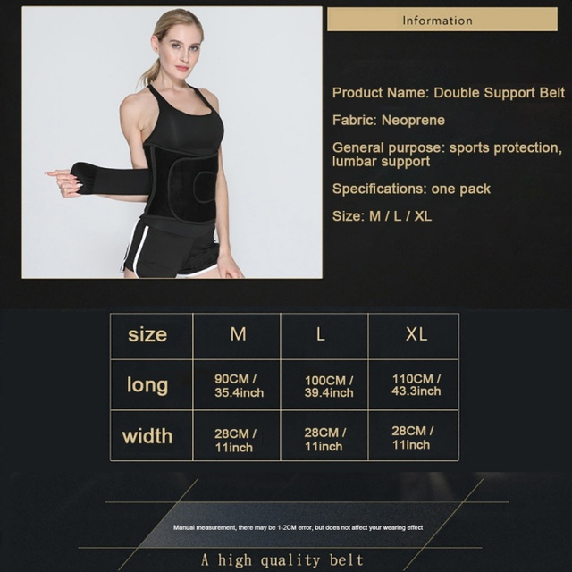 Belt-Sport Girdle Belt For Weight Waist Trainer Women, Waist Cincher Trimmer, Back Support Sweat Crazier  Body Shaper 5