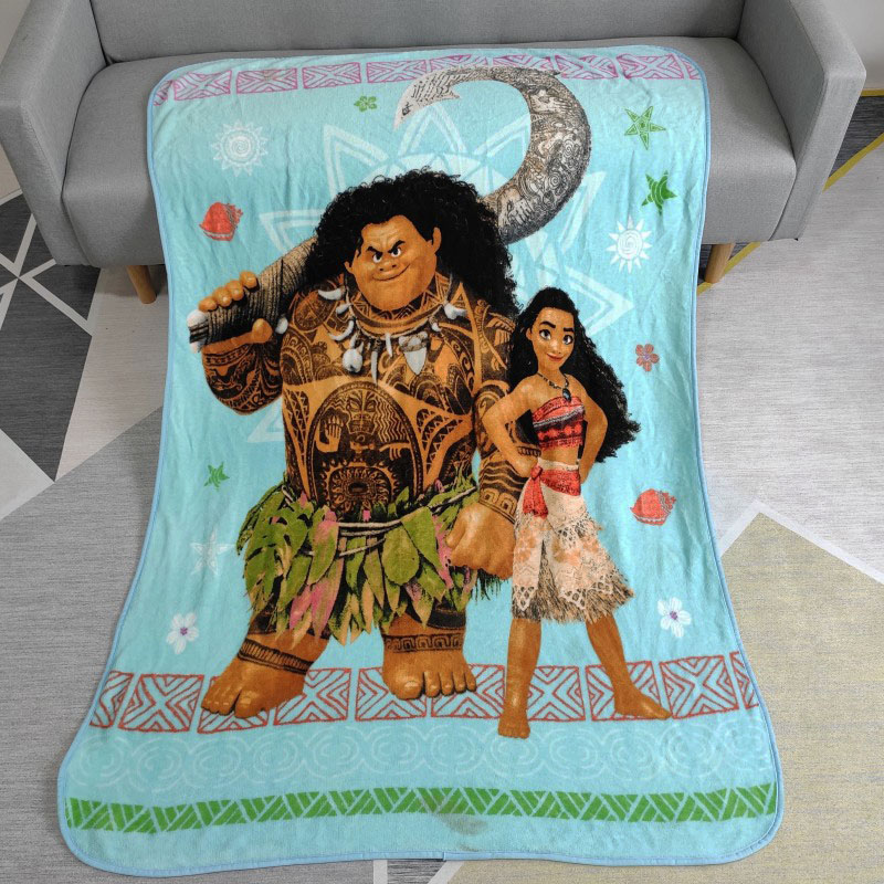 Disney Cartoon Moana And Maui Plush Baby Blanket Throw 117x152CM On Bed/Crib/Sofa For Children Girls Boys Kids Birthday Gift