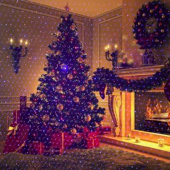 ALIEN Uzaktan Kırmızı Mavi Hareketli Noel Açık Lazer ışığı Yıldız Projektör Su Geçirmez IP65 Bahçe Noel Ağacı Tatil Gösterisi ışıkları