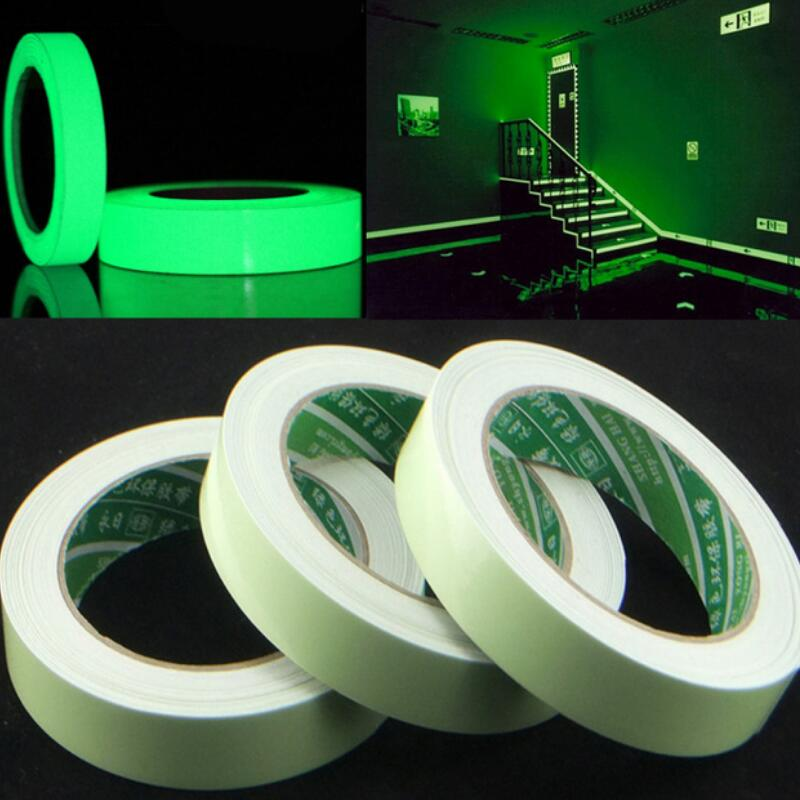 20/12/10/15mm X 3M/Roll Luminous Tape Self-adhesive Glow In The Dark Safety Stage Home Decorations Warning Tape Environment