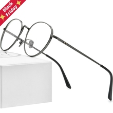 Pure Titanium Glasses Frame Men Retro Round Myopia Optical Prescription Eyeglasses Frames Women Vintage Eyewear 884