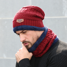 Winter Hats For Men Thick and Warm Men Women Winter Hat Black Autumn Beanie Hat Wool Ski Hats Knitted Beanies Bonnet