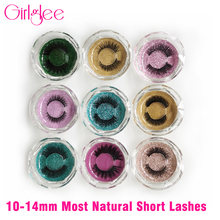 Short Lashes Natural Makeup Eyelashes 8mm-14mm False Lashes Wholesale Mink Eyelashes Girlglee Bulk Fake Eye lashes Mixed Styles(China)