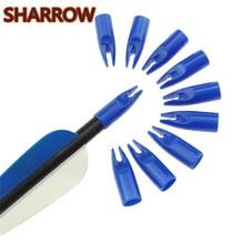 50 шт., для стрельбы из лука, для стрельбы из лука, пластиковый наконечник, цветной пластиковый наконечник стрелы, 8 мм, вал стрелы для наружной съемки, аксессуары