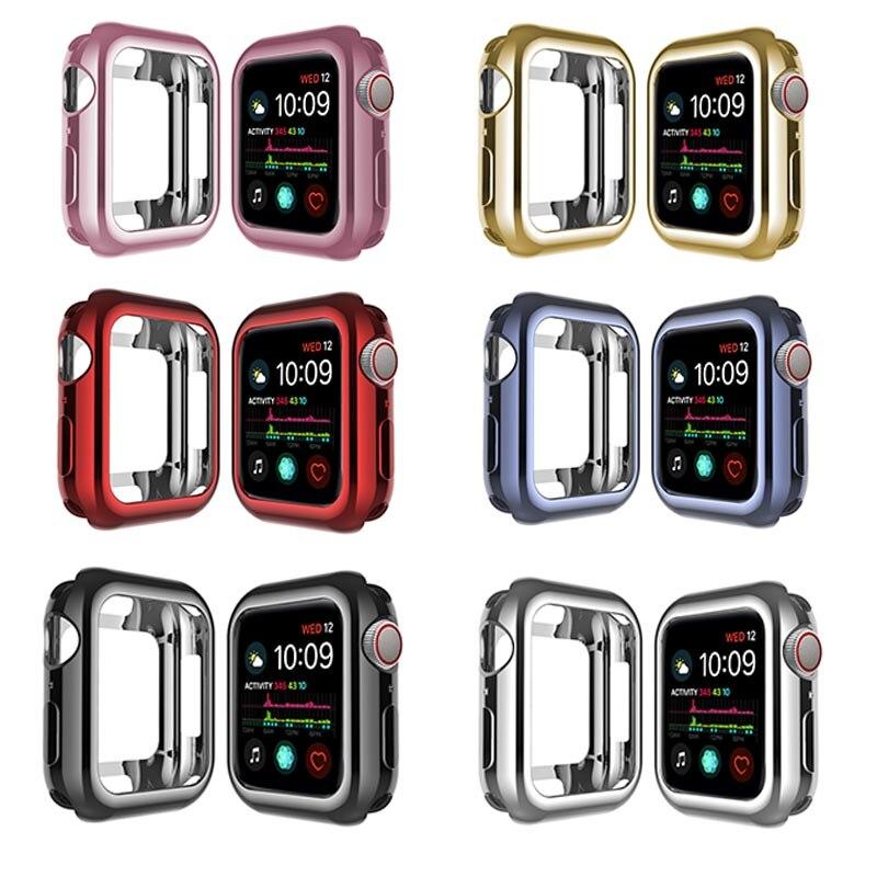 Funda para reloj Apple watch 5 4 40MM 44MM revestimiento protector Tpu Delgado suave para iwatch Series 3 2 1 38MM 42MM Accesorios