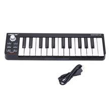 Worlde easykey.25 teclado midi eletrônico portátil mini 25-key usb midi controlador de piano eletrônico