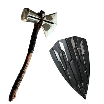 1: 1 Thor Hammer Ax 73 cm Weapons Avenger  War  Shield Cosplay Role Thor Thunder Ax Stormbreaker Figure Toy avengers weapon superhero thor hammer full metal 1 1 mjolnir cosplay hammer thor odinson quake martillo collection model toy