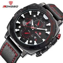 2020 mens watches top brand luxury LONGBO Quartz Sport Watches Leather waterproof complete calendar male clock relogio masculino