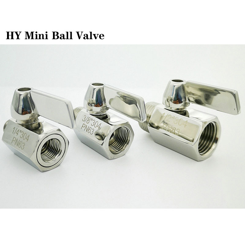 MINI Ball valve Stainless steel Beer Tap 1/8 1/4 3/8 1/2 3/4 1BSP Female male SS304  Brewer Hardware 2 way ball