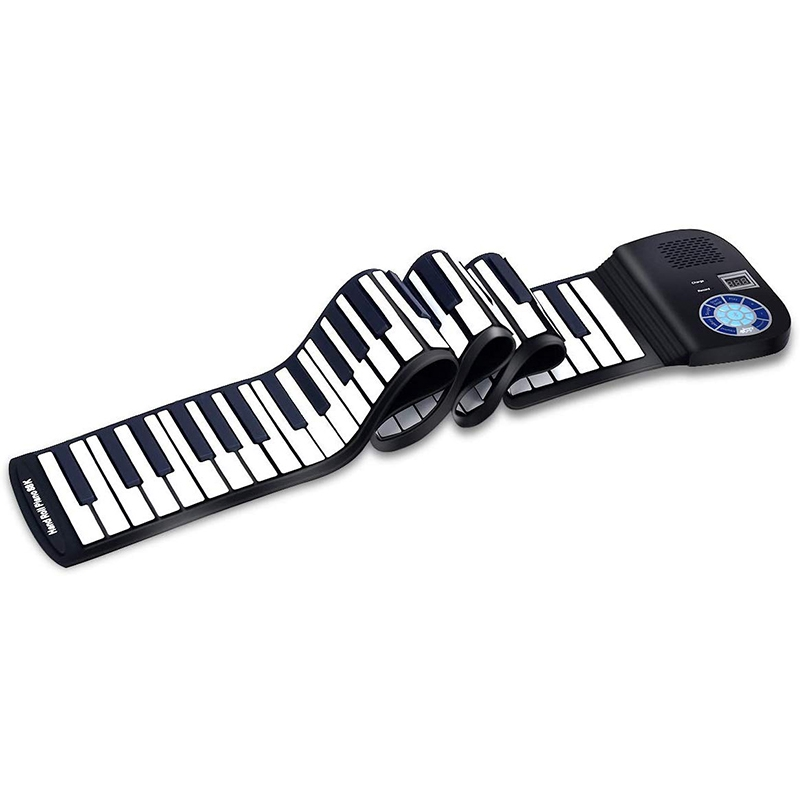 Piano Keyboard 88 Keys Contact Sensitive Portable Keyboard With Power Supply With Foot Pedal