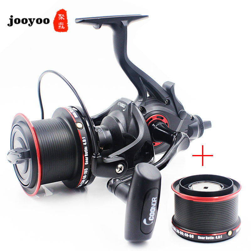4.6:1 High Speed Series 12+1BB NFR9000+8000 All-metal Double-line Cup Fishing Reel Double-loading Squid Spinning Wheel Fishing image