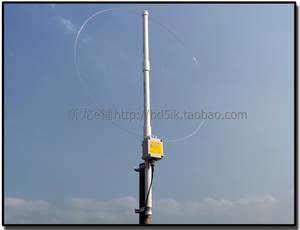 K-180WLA 활성 루프 광대역 수신 안테나 0.1MHz-180MHz 20dB SDR FM 라디오 안테나 루프 소형 루프 HF 안테나