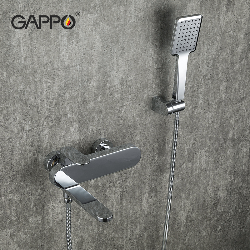 GAPPO Bathtub Faucets Bathroom Hot Cold Water Mixer Shower Bathtub Faucet Bath Faucet Shower Set Shower Head