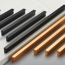 American Style Black Cabinet Handles Gold T Bar Aluminum Alloy Kitchen Cupboard Pulls Drawer Knobs Furniture Handle Hardware