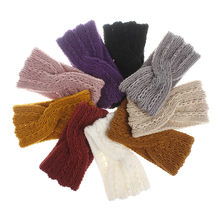 Autumn Winter Warmer Ear Knitted Headband Turban For Lady Women Crochet Bow Wide Hair Scarf Hairband Headwrap Hair Accessories(China)