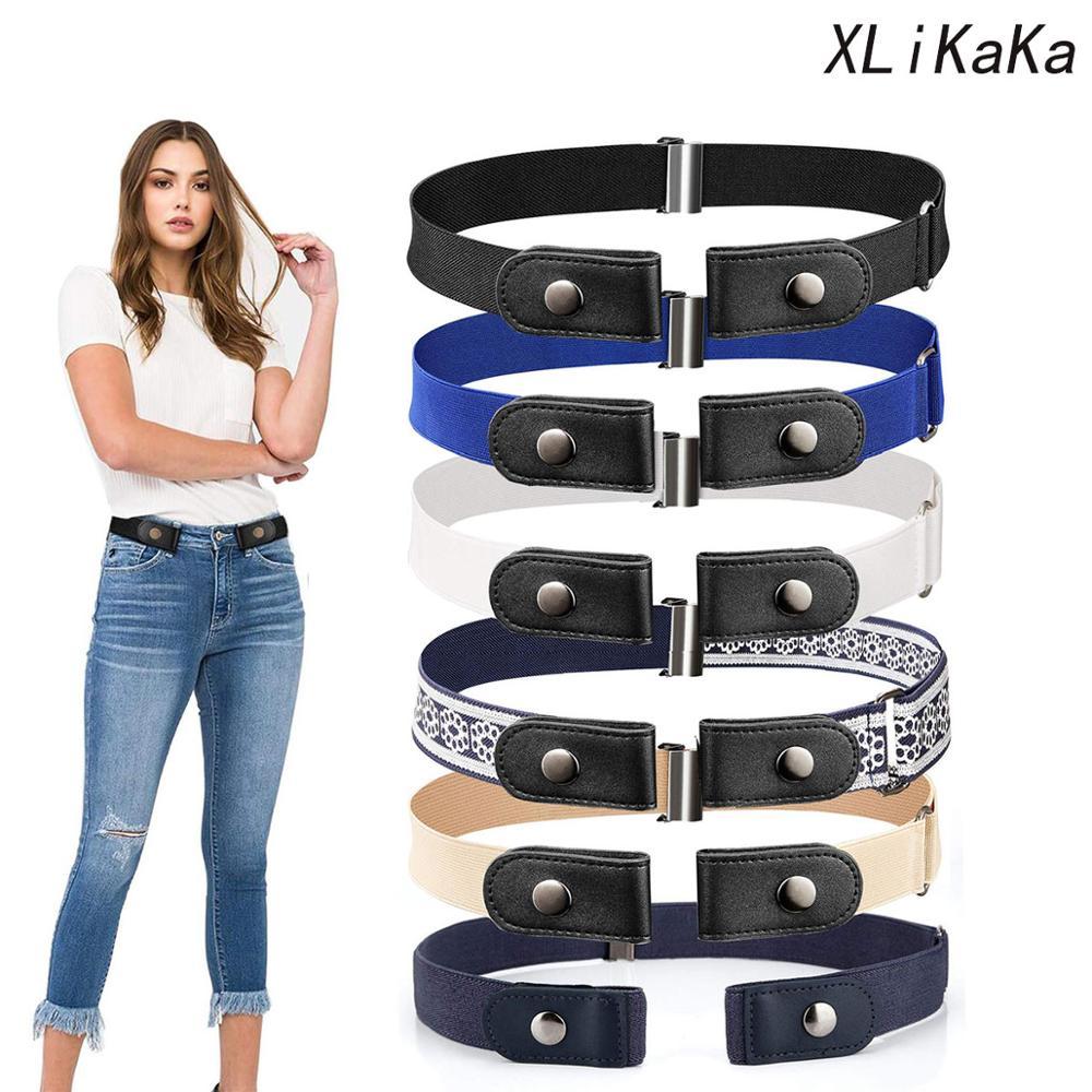 Эластичный ремень XLiKaKa без пряжки, Свободный ремень без пряжки, эластичный ремень, женские ремни плюс для джинсов, брюк, платьев, Прямая пост...