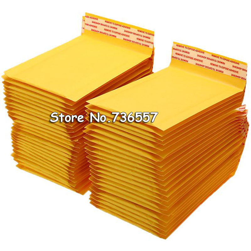 10pcs 50 PCS/Lot Kraft Paper Bubble Envelopes Bags Mailers Padded Shipping Envelope With Bubble Mailing Bag Drop Shipping