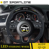 Customized LED carbon fiber and leather For Audi Q3 Q5  upgrade LED Steering Wheel cover Trims race display for  A3 A4 A5 A7