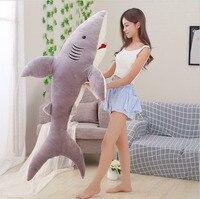 160cm/62 Shark Plush Toy Pillow Huge Soft Toy Gift Big Stuffed Big Shark Toy Stuffed Animals