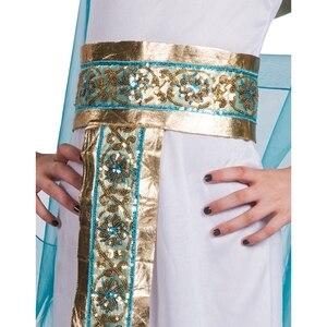 Image 5 - Disfraz de Halloween de Cleopatra azul para niños, Cosplay de Halloween con la espalda en el egipcio como la famosa reina, juego de rol histórico