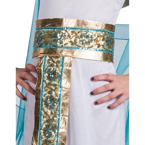 Image 5 - Kids Blue Cleopatra Child Halloween Cosplay  Costume Back In The Egyptian As The Famous Queen Historical Plays Role Play