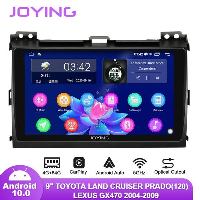 "9 ""Android10รถวิทยุสำหรับToyota Land Cruiser Prado 120/Lexus GX470 2004 2009 GPS Carplay Android Auto DSP SPDIFซับวูฟเฟอร์DAB"