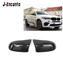 цена на Carbon fiber side view Mirror Caps Replacement for BMW X5M F85 X6M F86 M Look OEM Fitment Side Mirror Cover 2014-