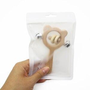 Image 3 - 卸売 100 ピース/ロットビニール袋おしゃぶり包装 & ディスプレイアクセサリー安全 BPA 無料シリコーンビーズパッケージディスプレイバッグ