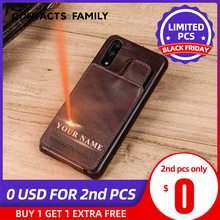 Vertical Magnetic Flip Card Holder Leather Case For Huawei P20 Retro Business Cover For Huawei P20 Phone Bag Cover Wallet Pouch