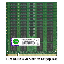 20GB(2GBX10) PC2-6400S PC2-5300S DDR2 667MHZ 800MHz 204pin 1.8V Blue SO-DIMM RAM Laptop Memory Wholesale price