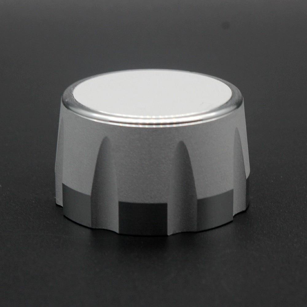 Aluminum  Potentiometer Knob Audio Volume Knob Encoder Knob 35 X 20mm - Silver