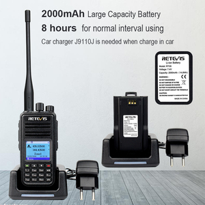 Image 4 - DMR Dual Band Retevis RT3S Digital Walkie Talkie (GPS) VHF UHF DMR Radio Amador Ham Radio Transceiver 2 Way Radio+Accessories