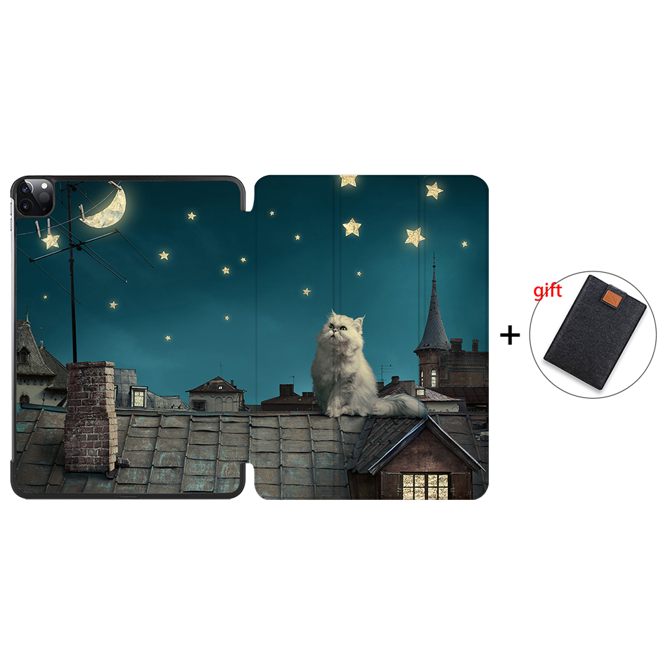 IP02 Other MTT Case For iPad Pro 11 inch 2020 PU Leather Magnetic Fold Flip Smart Cover Protective