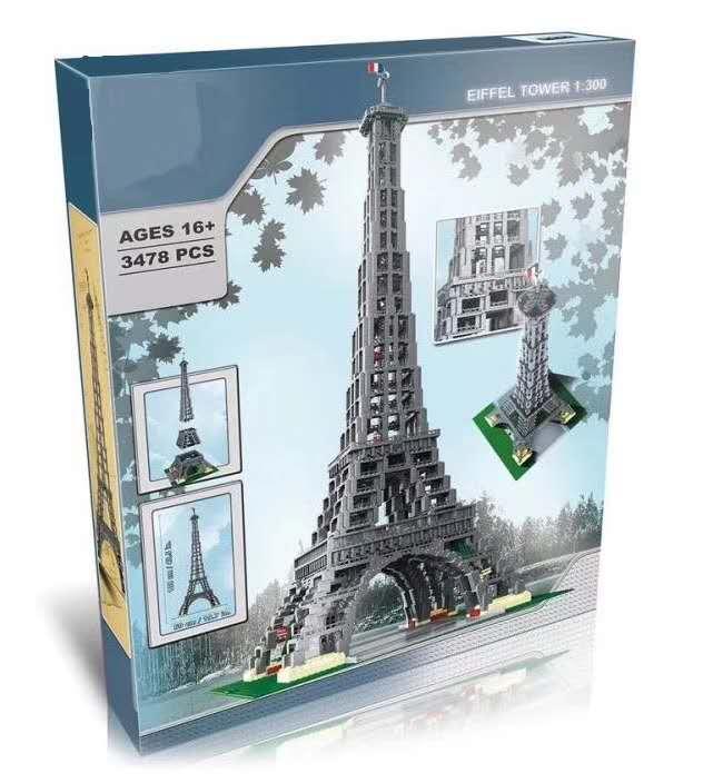 17002 City Street 3478 pièces la tour Eiffel modèle bâtiment assemblage briques jouets Compatible 10181 anniversaire cadeaux jouet cadeaux