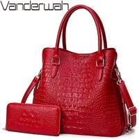 2 Sets Crocodile Leather Purses And Handbags Women Shoulder Bags Women Messenger Bags Ladies Casual Tote Bags Sac A Main Femme