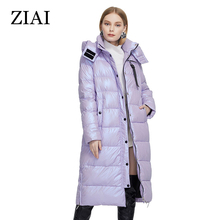 Female Jacket Fabric Women Coat Warm Long Fashion Perfect-Brand Colorful Ziai Winter