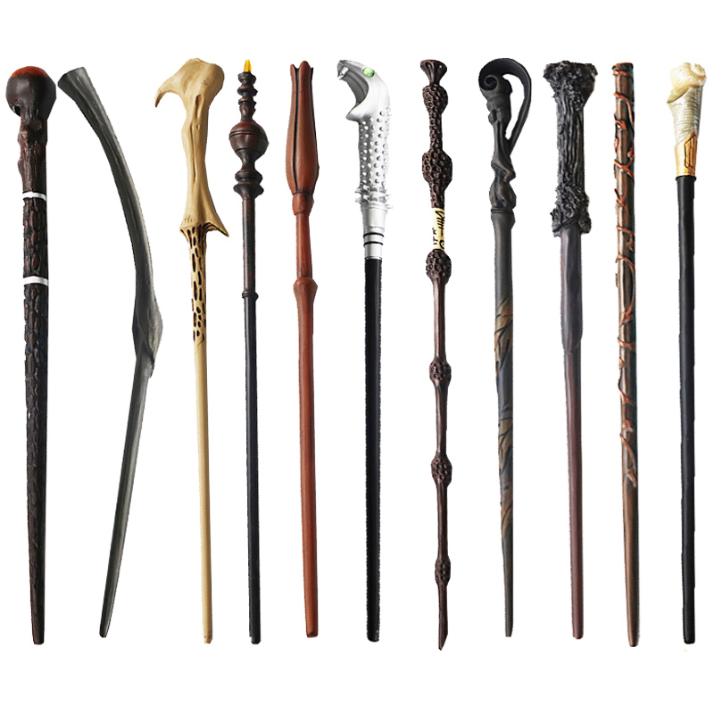 28 Kinds Of Metal Core Potters Magic Wands Cosplay Voldmort Hermione Ron Bellatrix McGonagall Magical Wand Harried Without Box