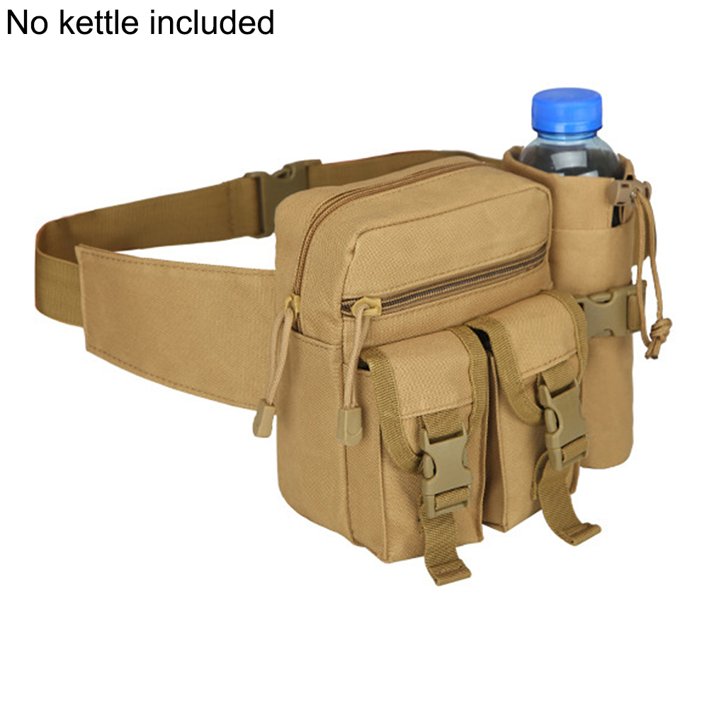 Men Waist Bag Tactical Waist Pack Pouch With Water Bottle Holder Waterproof 800D Nylon Belt Bum Bag Waist Bag