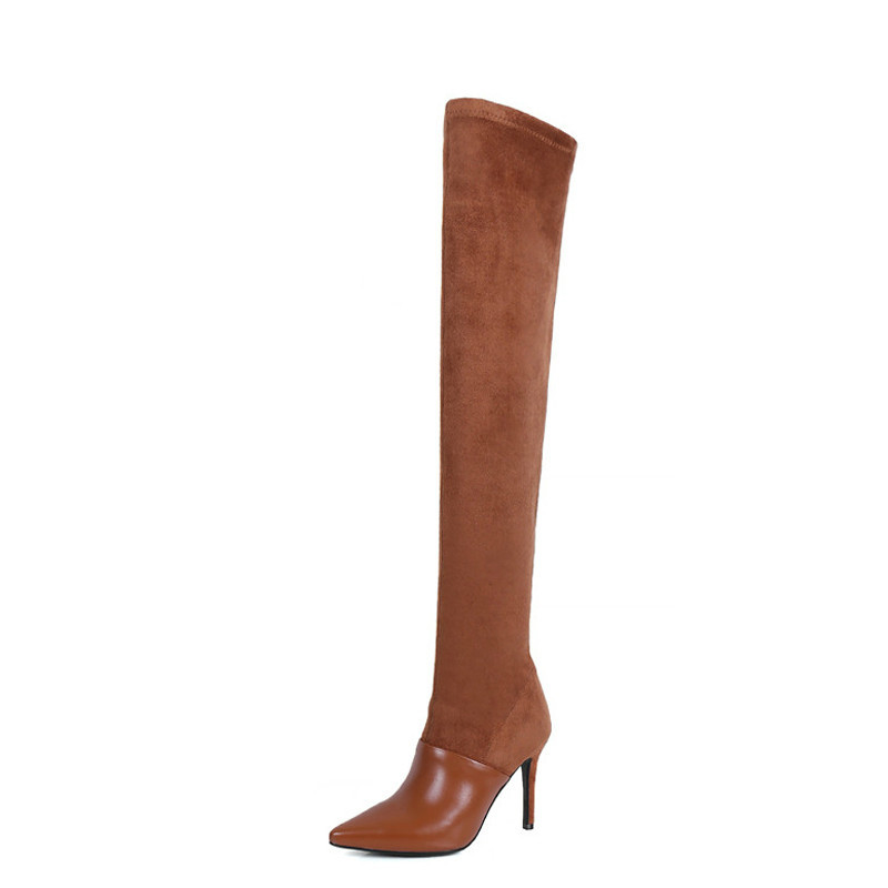 YECHNE Winter Women About The Knee Layers Woman Dij High Layers Brown Beings Teen Fashion Sexy Knees High Boots