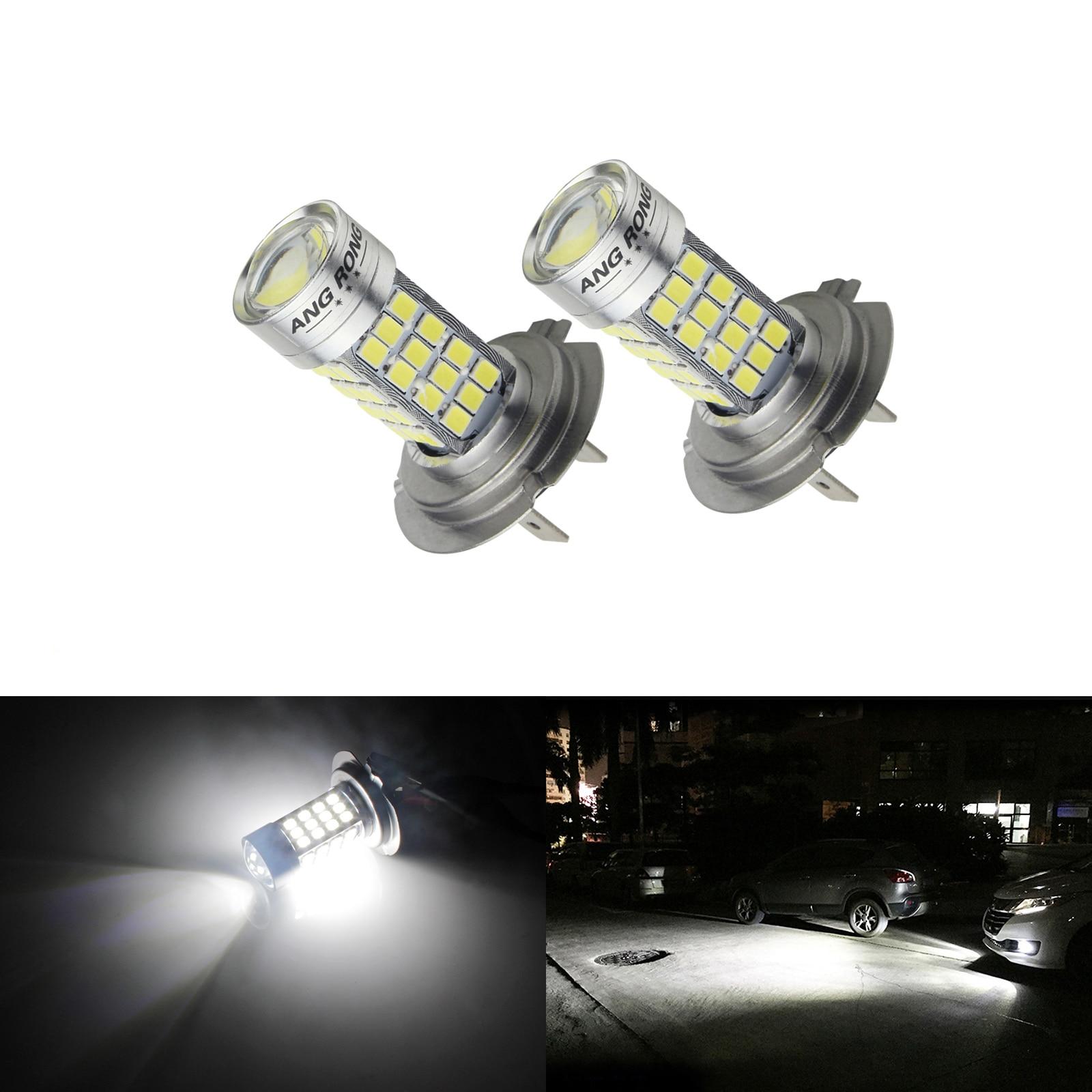 2x 50W H11 H8 H9 High Power 12V 6000K Xenon White LED Fog Lights Driving Bulbs