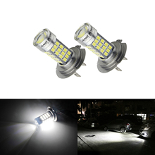 цена на 2x H7 SAMSUNG 54 SMD High Power LED Bulb Headlight Daytime Fog DRL Light Lamps(CA274)