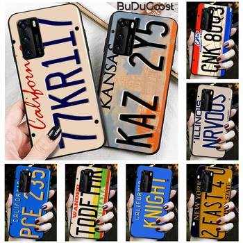 Supernatural License Plate KANSAS KAZ 2Y5 Phone Case For Huawei P30 P20 Mate 20 Pro Lite Smart Y9 Prime 2019 image