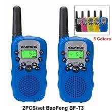 2 unids/set de walkie talkie para niños chico s radio mini juguetes baofeng BF-T3 para niños chico regalo BFT3 transceptor portátil de dos vías